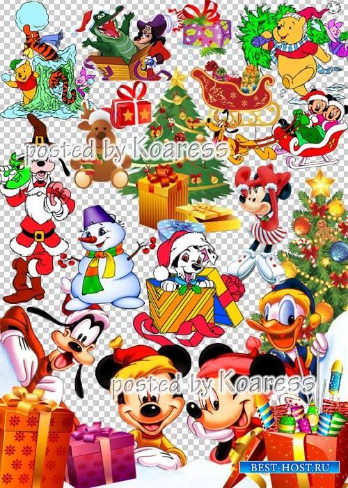 Детский зимний новогодний, рождественский png клипарт для фотошопа - Герои  ...