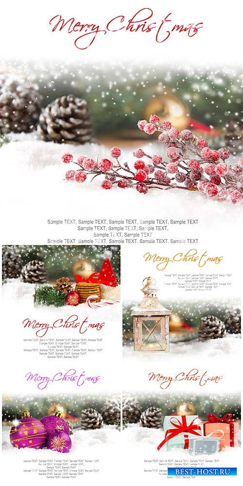 Winter backgrounds, Christmas decorations, pine cones and gifts - stock pho ...