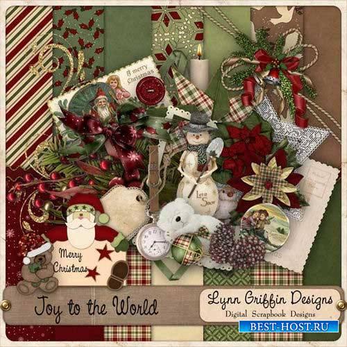 Новогодний скрап-комплект - Радость миру