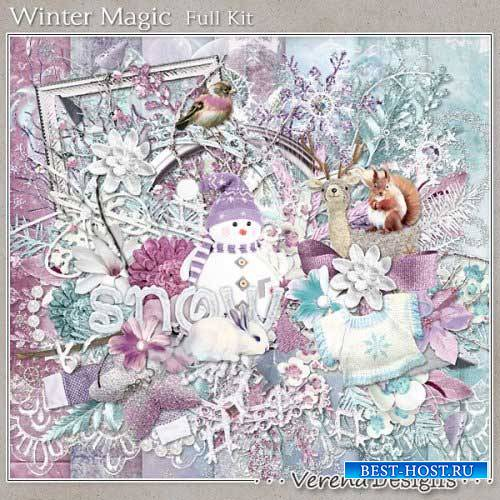 Зимний скрап-комплект - Зимняя магия