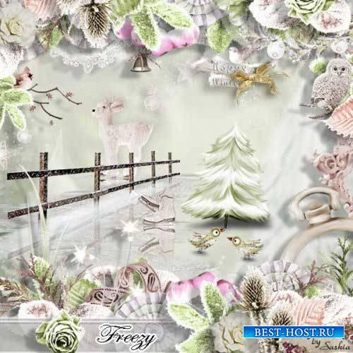 Зимний скрап-комплект - Freezy