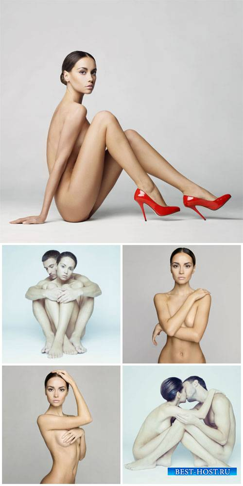 Naked people, man and a woman - stock photos