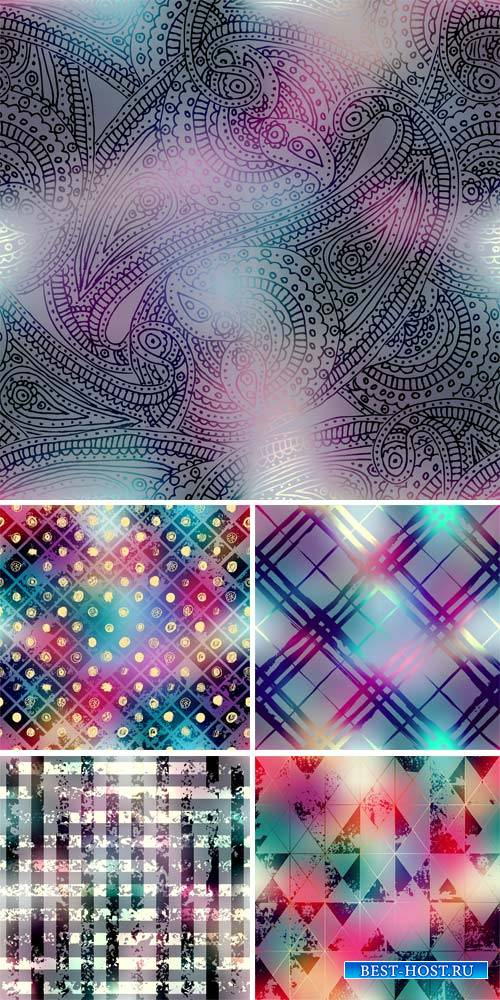 Vector backgrounds with abstraction, design patterns