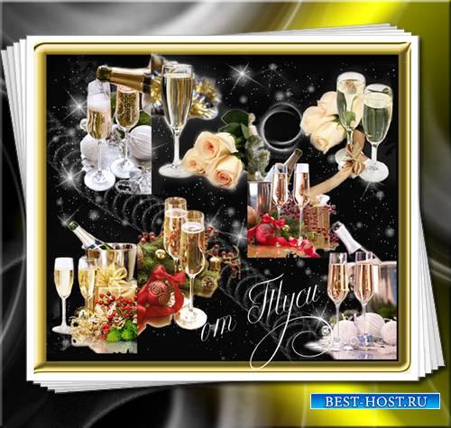 Клипарт - Гирлянды новогодних идей