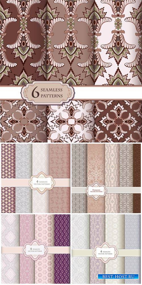 Seamless texture, vintage background with patterns vector