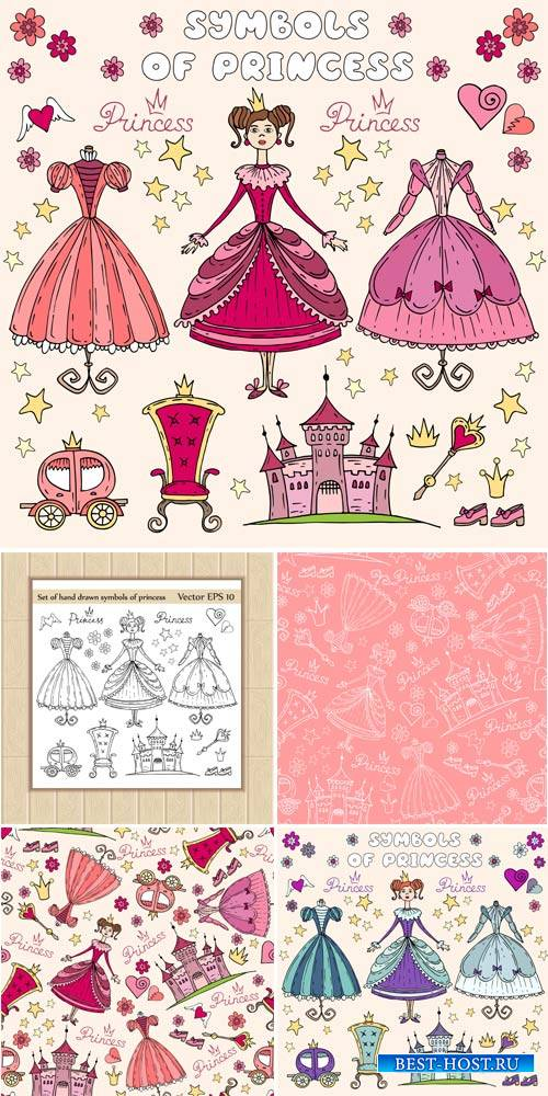 Princess, baby vector backgrounds