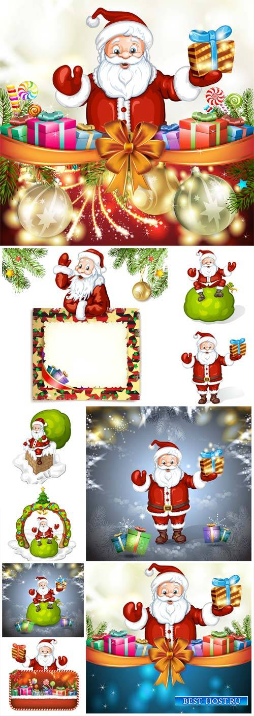 Santa Claus and Christmas, vector