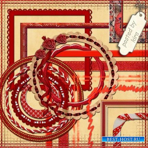 Клипарт для оформления - Красные рамки