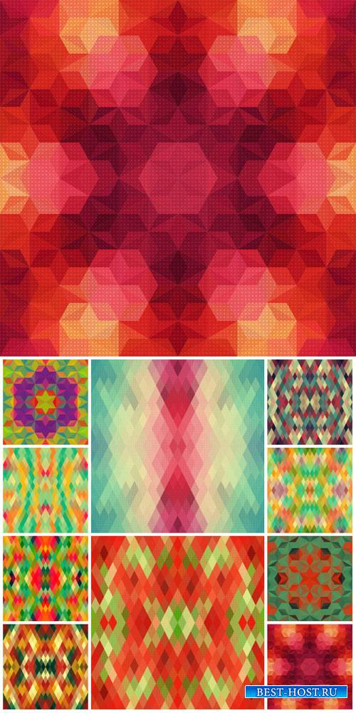 Vector backgrounds with abstraction, backgrounds mosaic