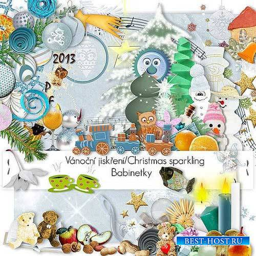 Новогодний скрап-комплект - Искромётное Рождество