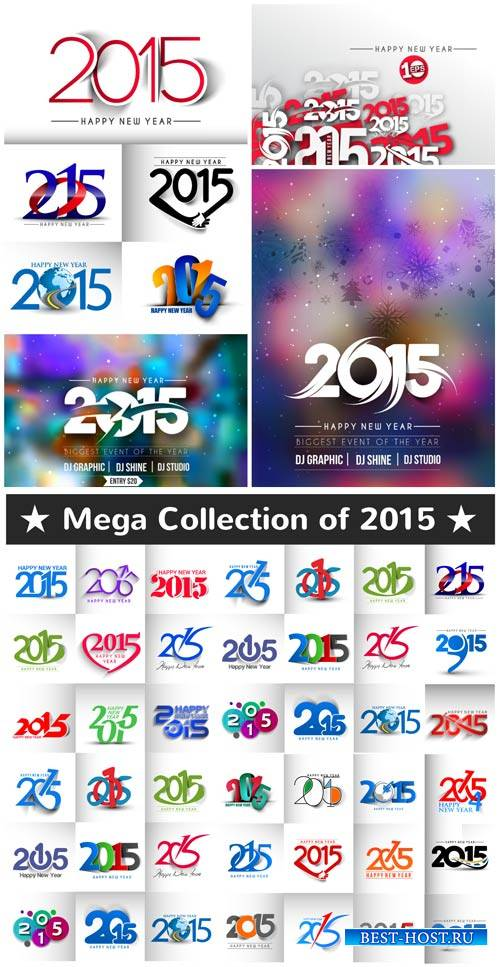 Collection of vector labels in 2015