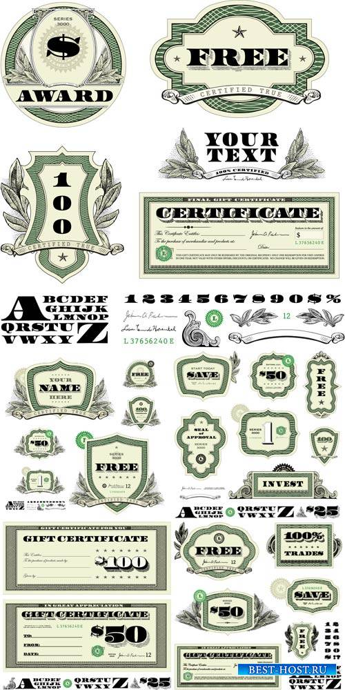 Money #3, vector elements