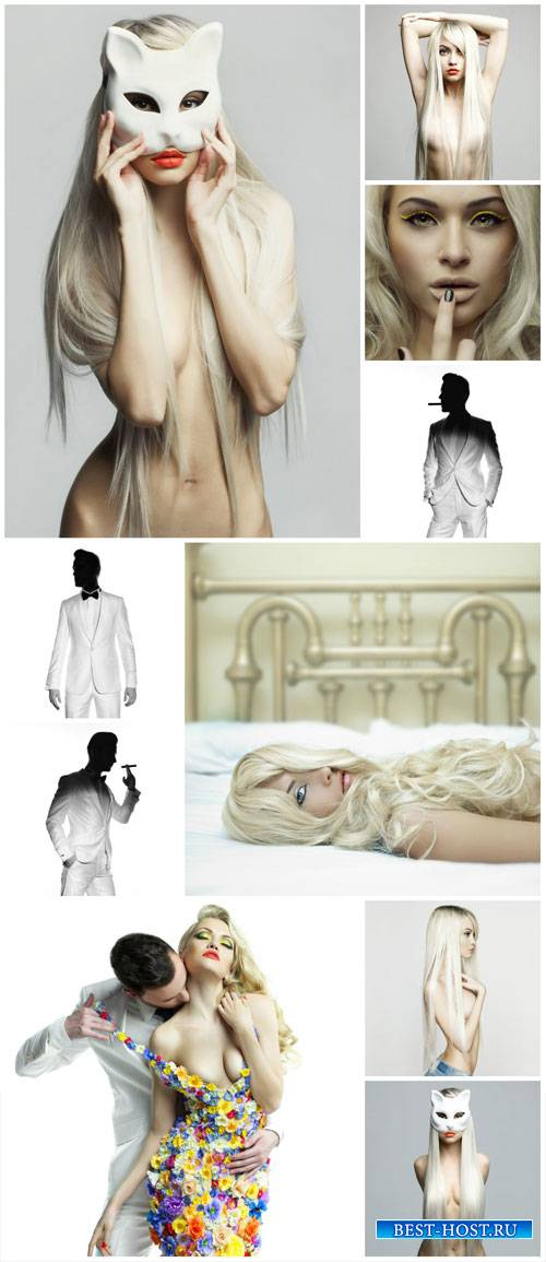 Men and women, fashion people - Stock photo