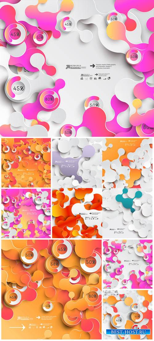 Vector backgrounds with abstraction # 40