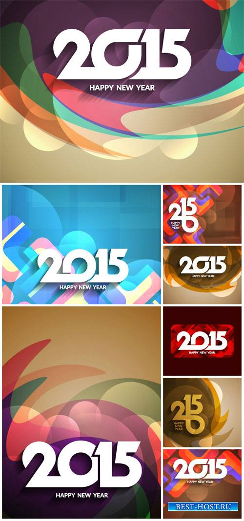 Vector backgrounds 2015, abstraction #2
