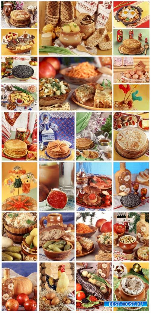 Russian food, delicious food - stock photos