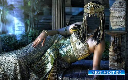 Шаблон psd женский - Царица Египта в наряде