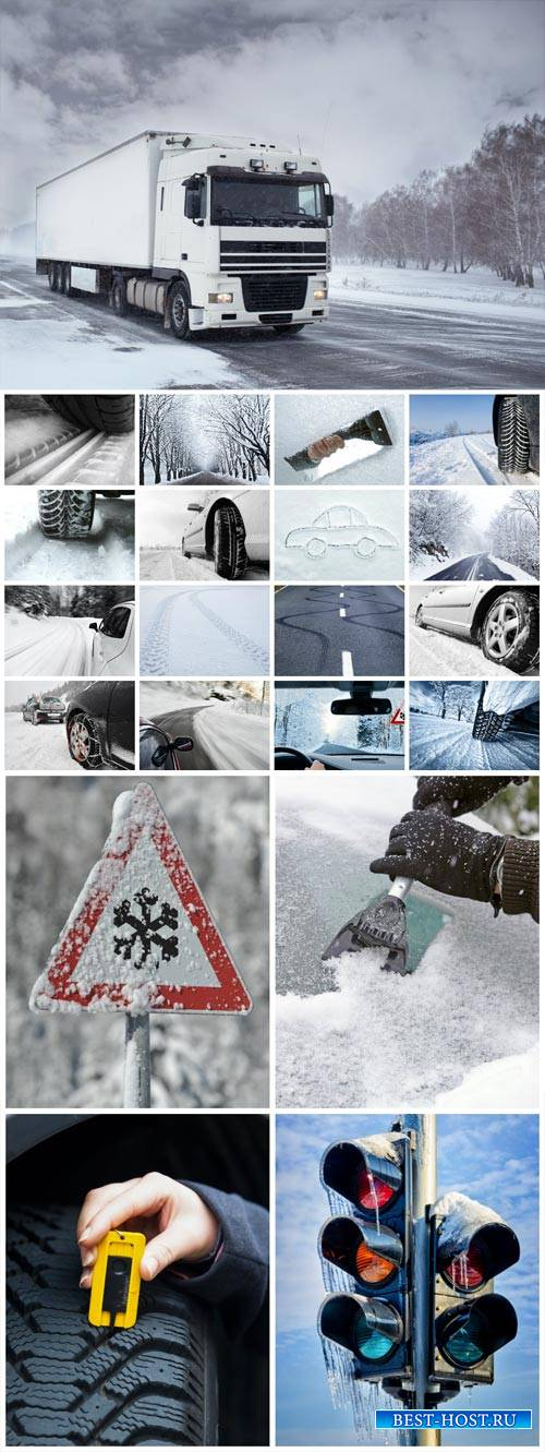 Winter travel, transport - stock photos
