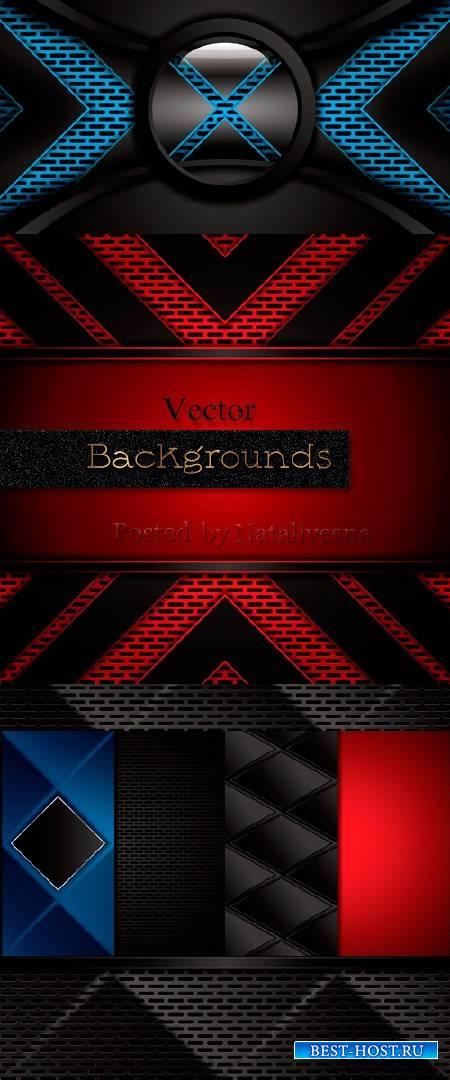 Черно – красные абстрактные фоны в Векторе – Креативные узоры