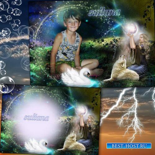 коллаж для фотошопа на несколько фото