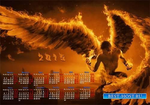 Красивый календарь - Огненный ангел