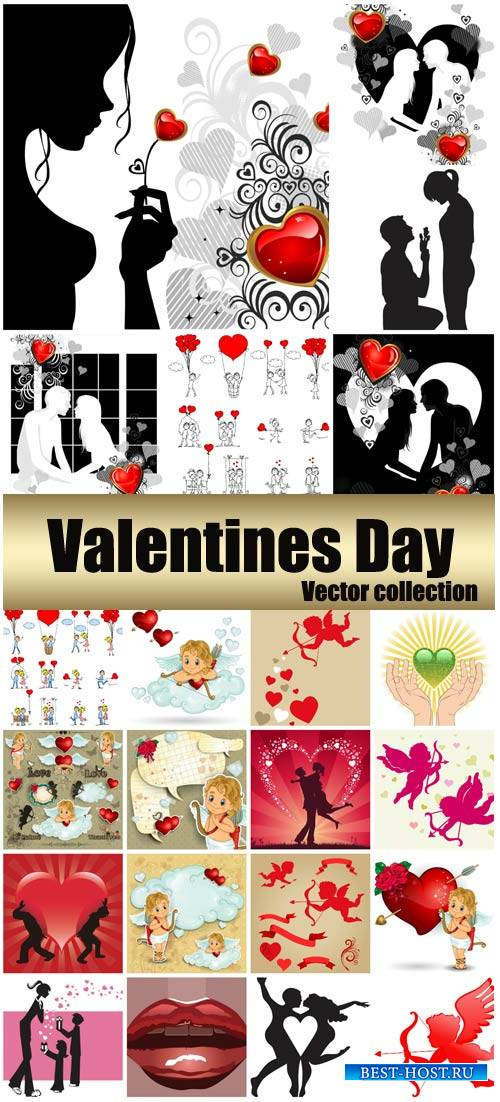 Valentine's Day, romantic backgrounds, couples # 33