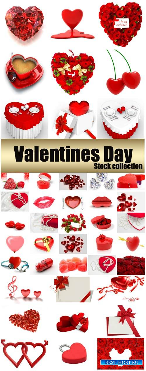 Valentine's Day, romantic backgrounds, roses, hearts #25 - stock photos