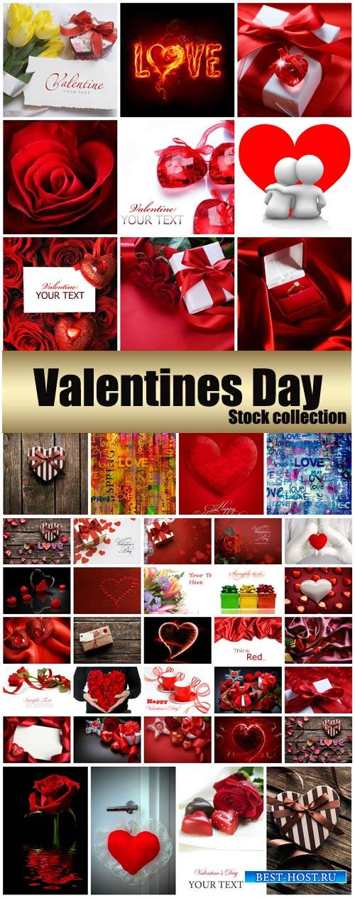Valentine's Day, romantic backgrounds, roses, hearts #24 - stock photos