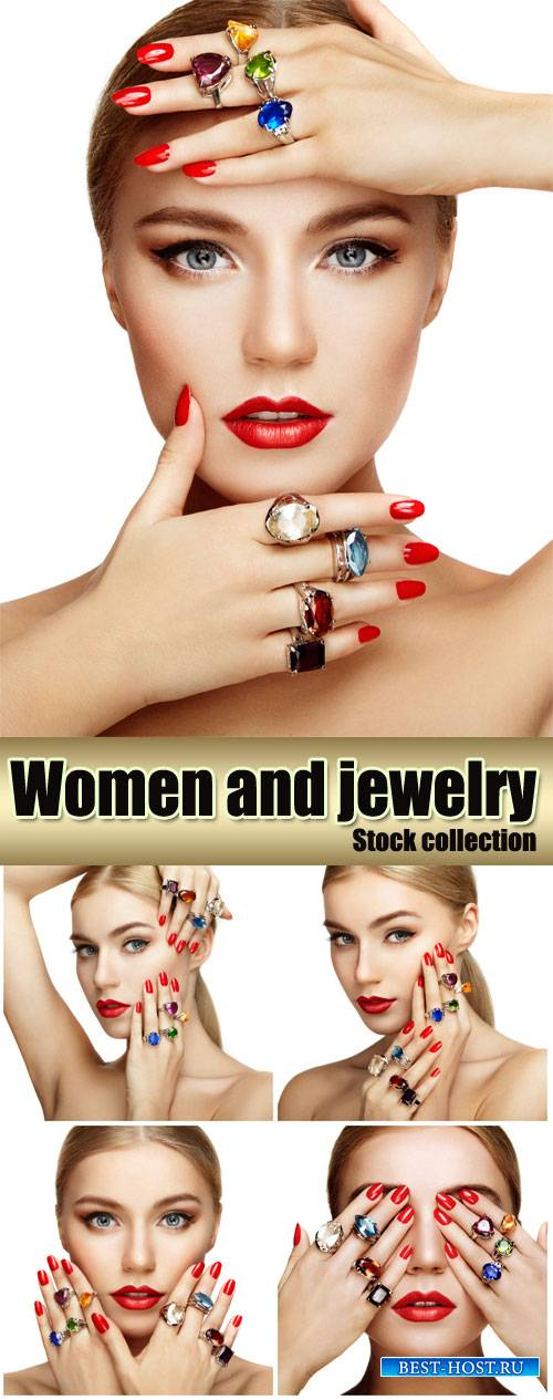 Girl with jewelry - Stock Photo