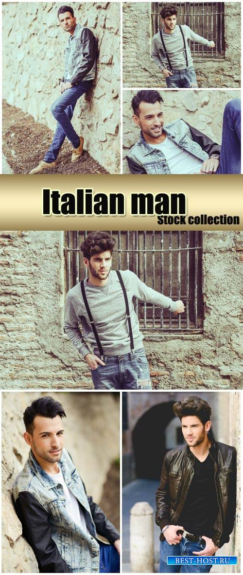 Italian man - stock photos