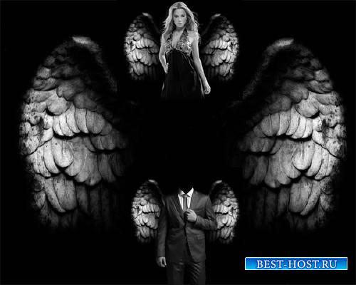 Шаблон для фото - Крылья ангела