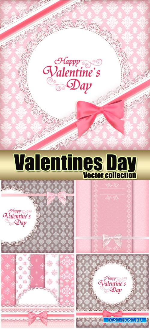 Backgrounds with patterns, valentines day vector