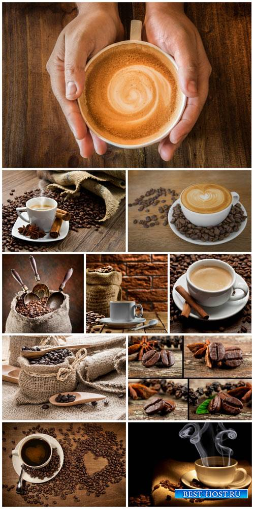 Coffee, coffee cup, coffee beans - stock photos