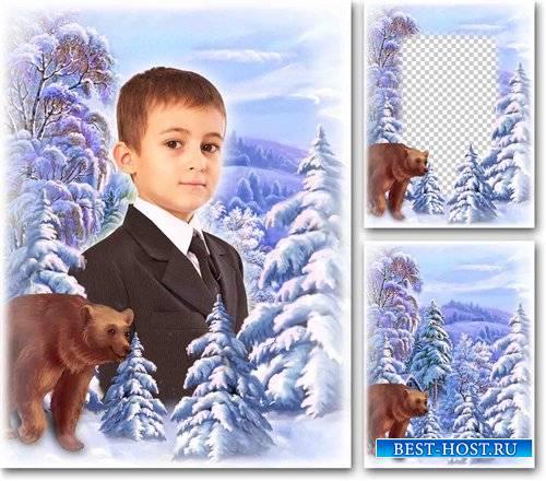 Рамка коллаж для фотошопа – Зимний пейзаж