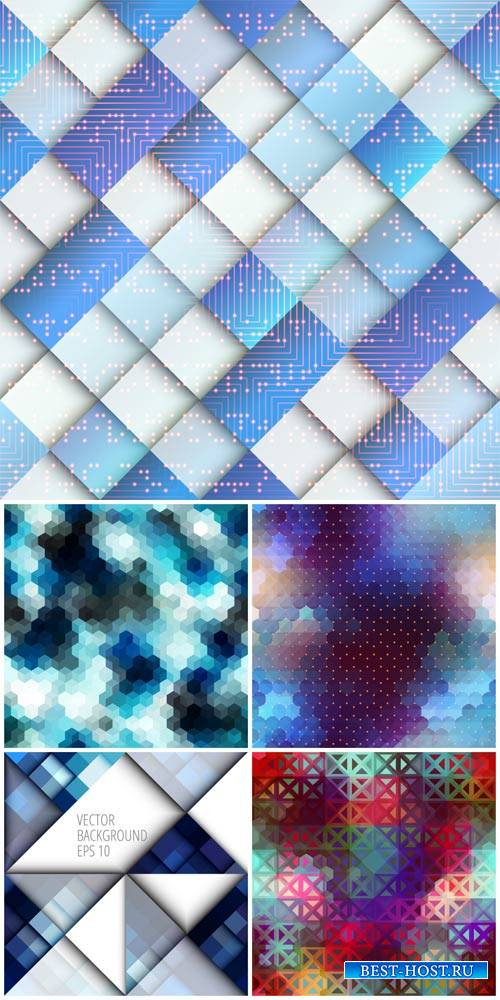 Vector backgrounds, abstract, backgrounds cubes, glare