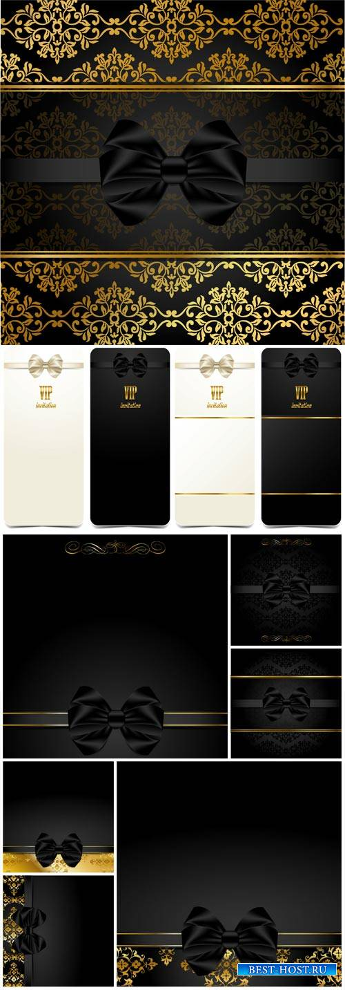 Vector VIP card, background with gold pattern