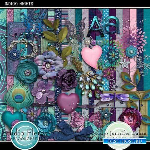 Романтические скрап-комплект - Синие ночи