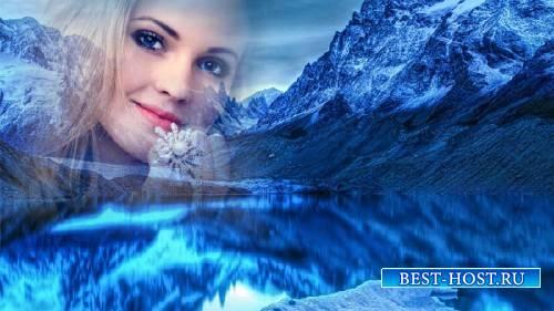 Рамка для фото - Зимнее озеро