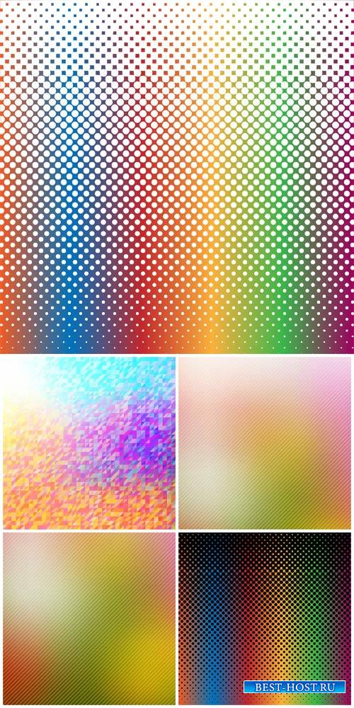 Vector backgrounds with different color tints