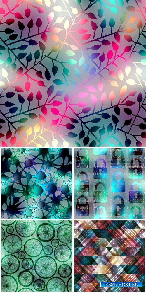 Creative vector backgrounds with different patterns
