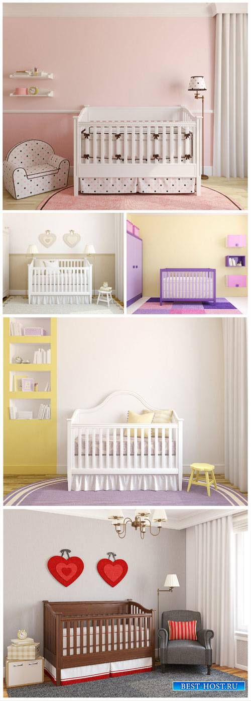 Child's room, cots - stock photos