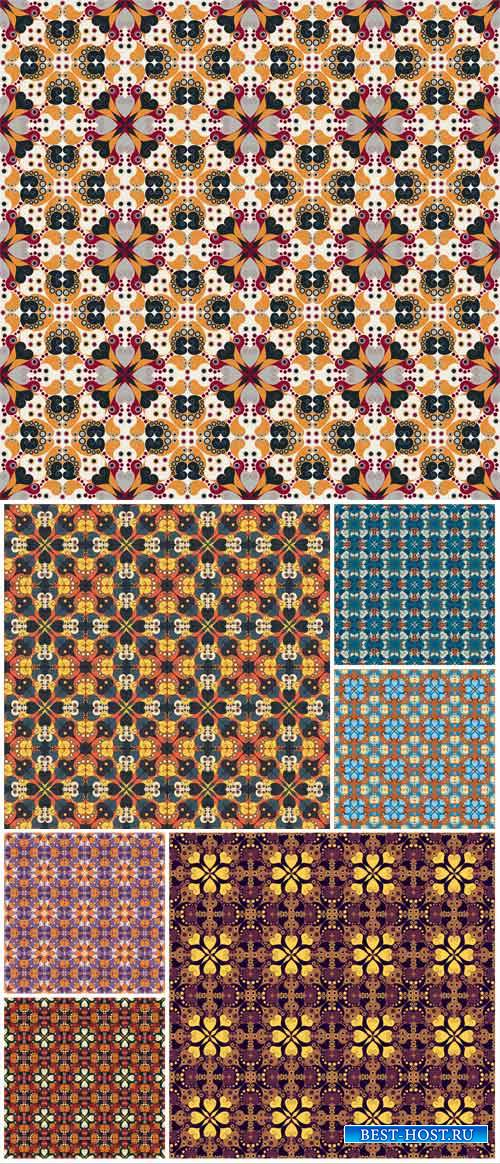 Vintage floral patterns, backgrounds vector