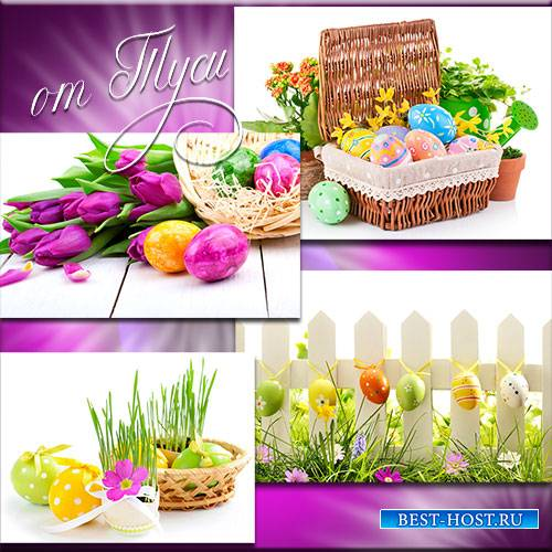 Яркие краски в день Христовой Пасхи - Клипарт