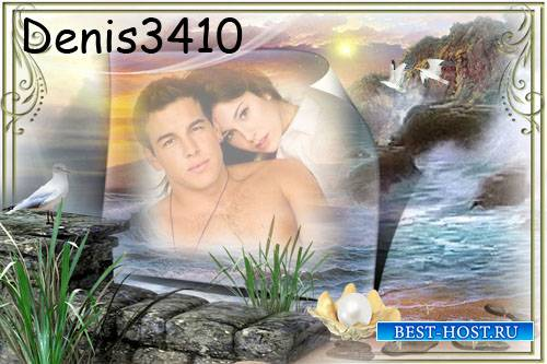 Романтическая рамка для фото - Романтика для двоих