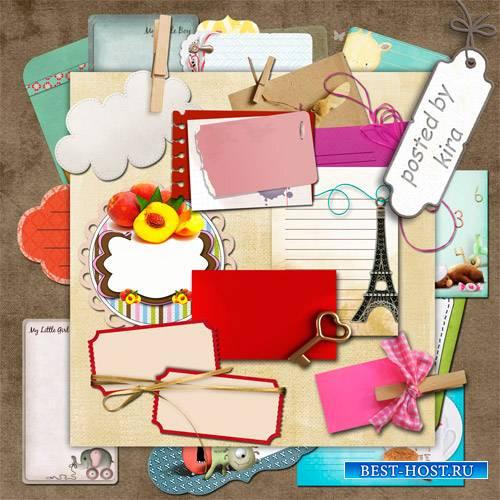 Клипарт для оформления - Ярлыки, карточки и таблички