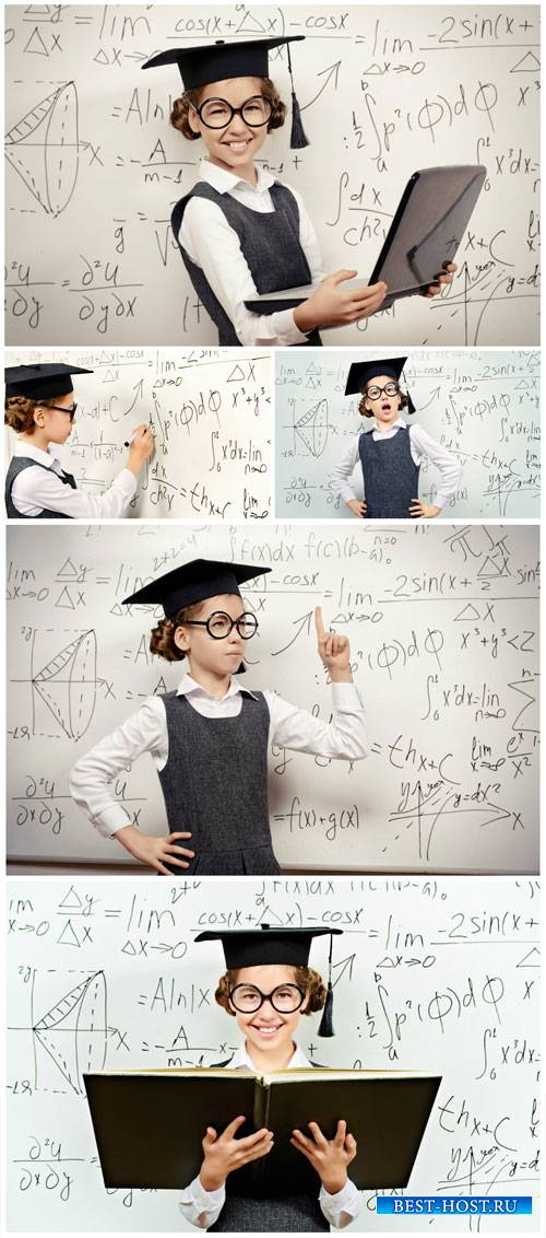 Girl with a laptop, knowledge and science - stock photos
