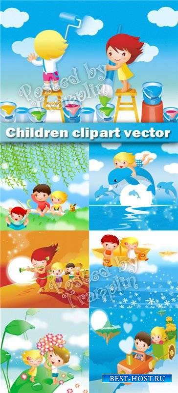 Фоны иллюстрации в векторе – Волшебное детство