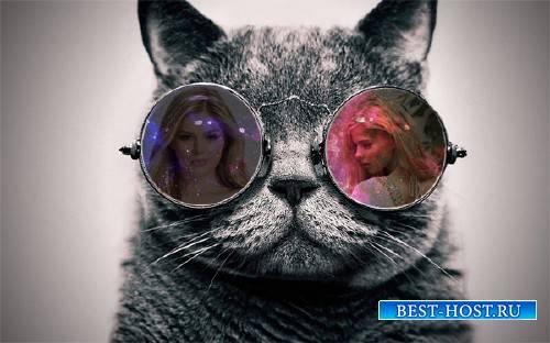 Рамка для фотошопа - Отражение в очках