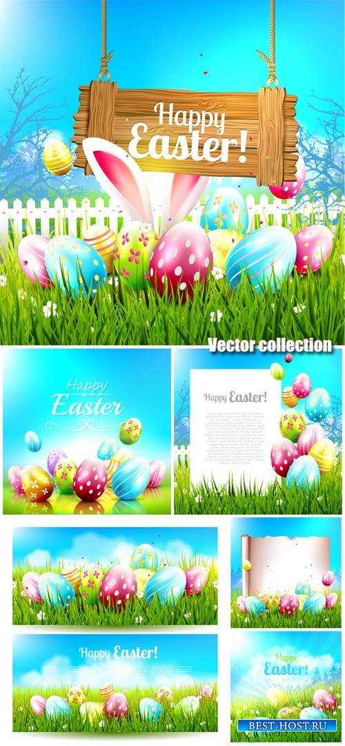 Easter, Easter eggs, Easter bunnies vector