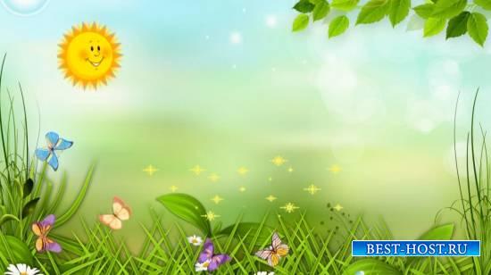 Футажи детский весна и лето